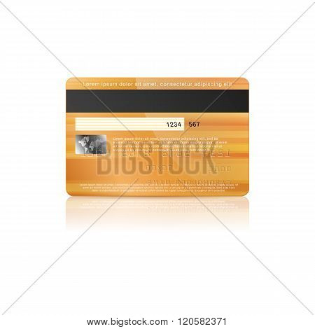 Credit card back icon in realistic style