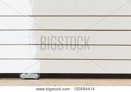 White Paint On Wood Fence Background