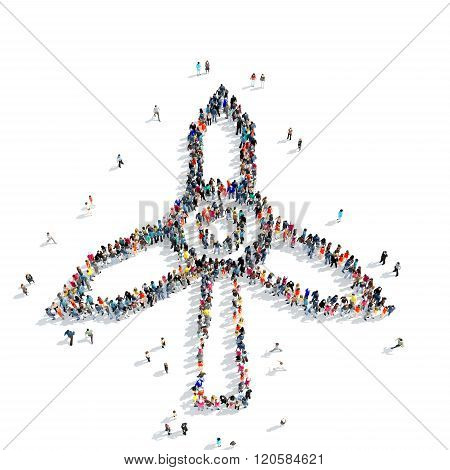 people shape  windmill icon