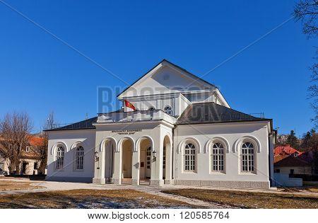 Royal Theatre (zetski Dom) In Cetinje, Montenegro