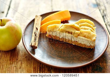 Dietary cakes on a wooden background