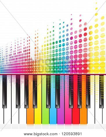 Rainbow Keys Of Piano
