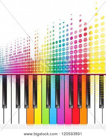 Rainbow Keys Of Piano