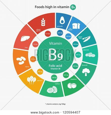 Foods high in vitamin B9