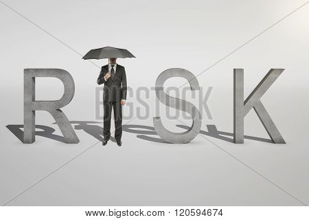 Risk Concept Businessman On White