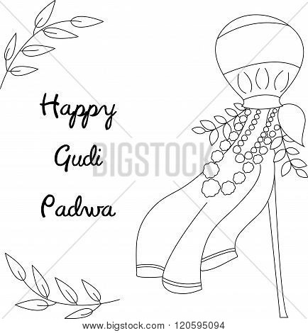 Happy Gudi Padwa Celebration Card