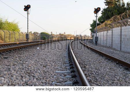 Photo Of Railway Tracks.