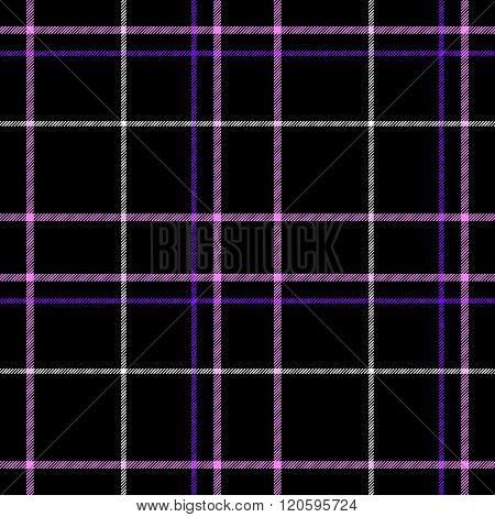 Black Check Diamond Tartan Plaid Fabric Seamless Pattern Texture Background