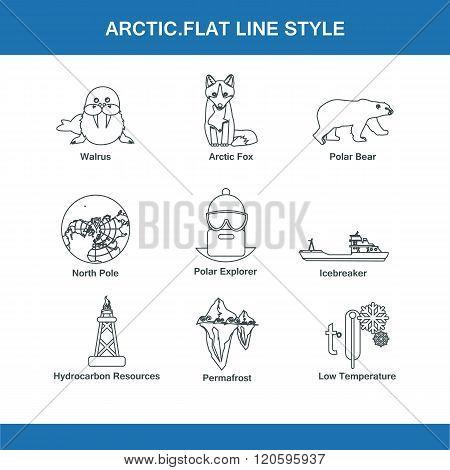 Arctic Flat Line Style