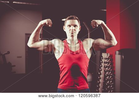 Powerful Man With Muscular Build