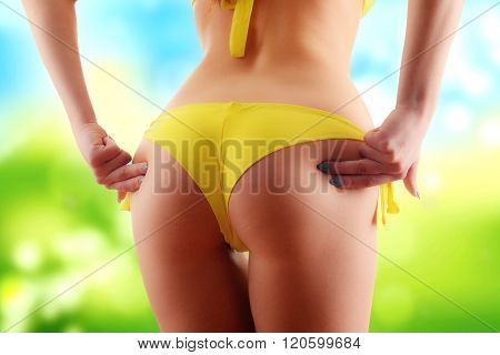 Sexy Female Buttocks. Weight Loss