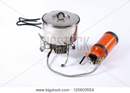 Tourist Metal Pan With Multi-fuel Burner