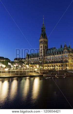 City Hall in Hamburg in Germany in Europe ** Note: Soft Focus at 100%, best at smaller sizes