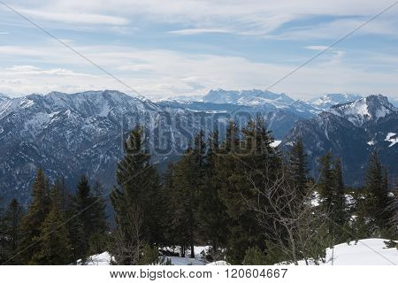 Pamorama View Of The Austrian Alps With