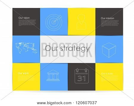 Vector Abstract Cube Infographic Network Template