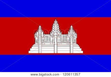 Cambodian Flag.