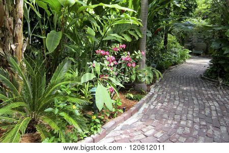 Garden path at Hemingway House