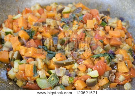 Vegetable Ragout In Pan