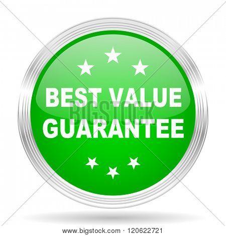 best value guarantee green modern design web glossy icon