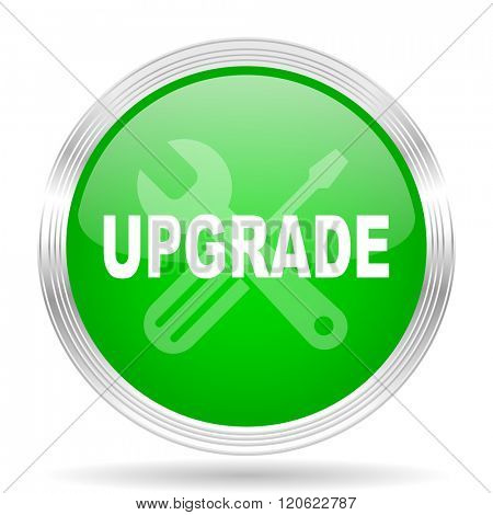 upgrade green modern design web glossy icon