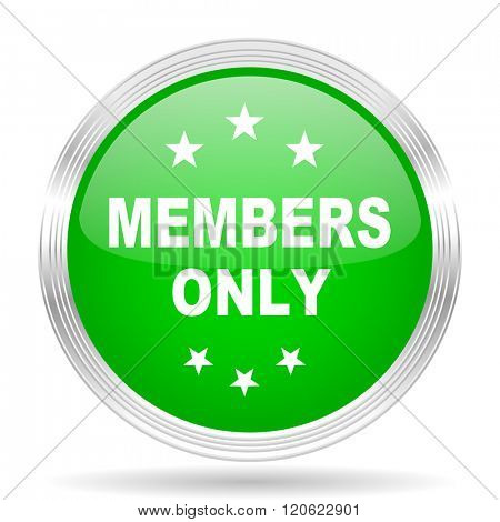 members only green modern design web glossy icon