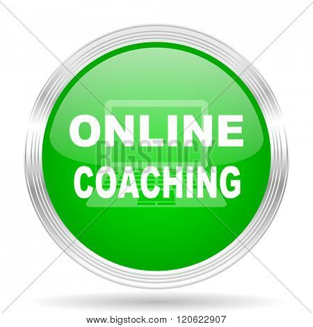 online coaching green modern design web glossy icon