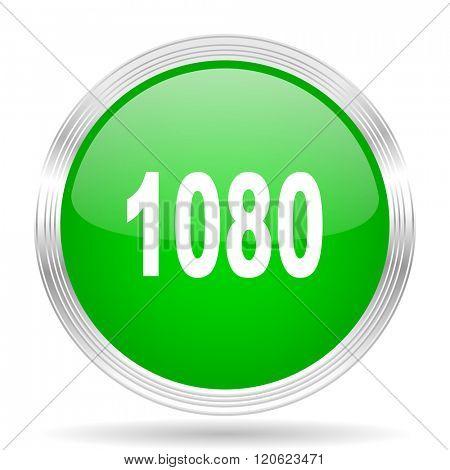 1080 green modern design web glossy icon