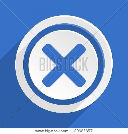 cancel blue flat design modern icon