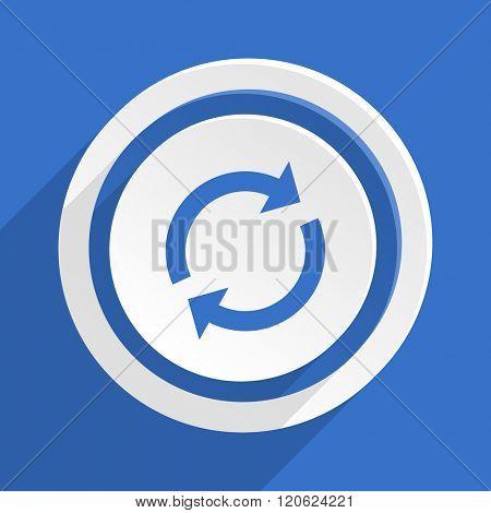 reload blue flat design modern icon