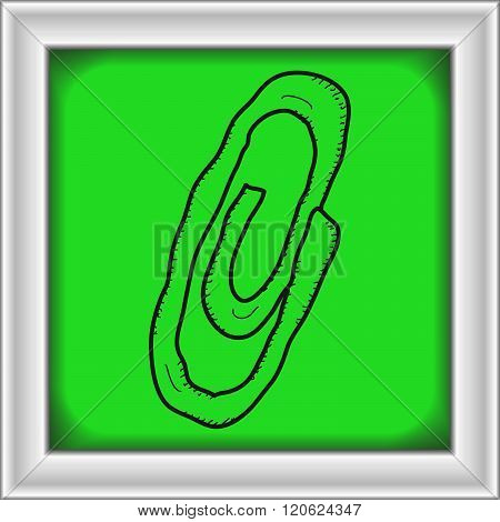 Simple Doodle Of A Paperclip