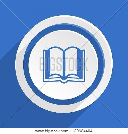 book blue flat design modern icon