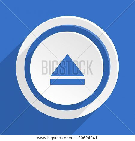 eject blue flat design modern icon