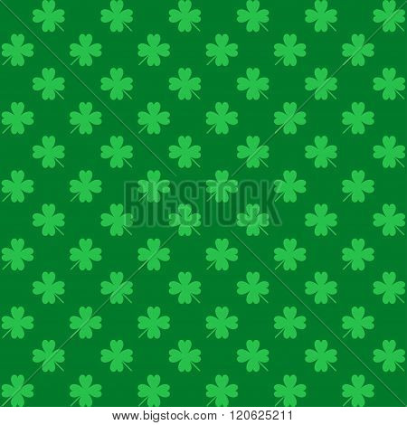 St. Patrick's Day Seamless Pattern With Clover For Wallpapers, Pattern Fills, Web Backgrounds