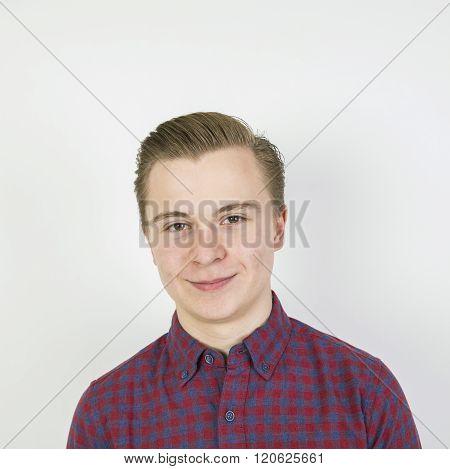 Cute Sixteen Year Old Boy In Studio