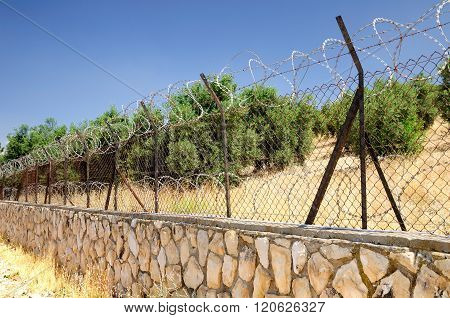 Protective fence.