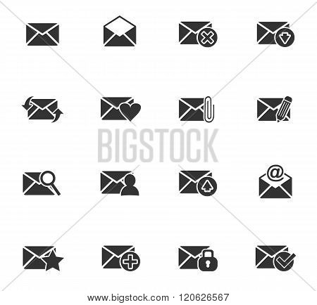 mail and envelope icon set