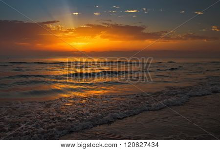 Dawn On The Mediterranean Sea