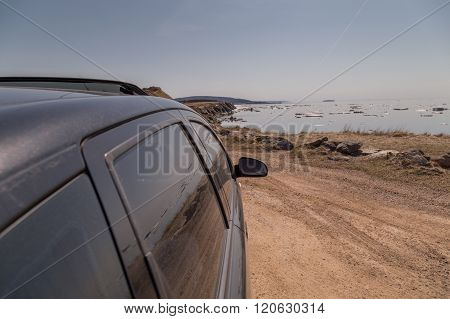 Black Car At Cabot Trail