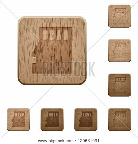 Micro Sd Card Wooden Buttons