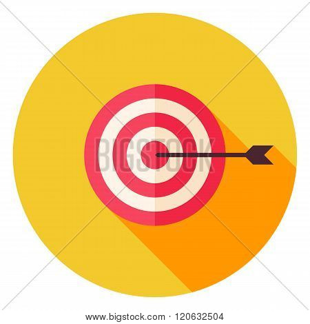 Aim With Arrow Circle Icon