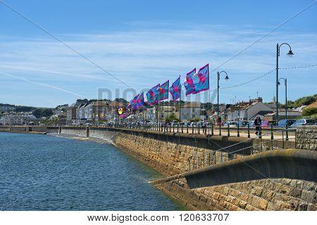 Promenade In Penzance, Cornwall, United Kingdom