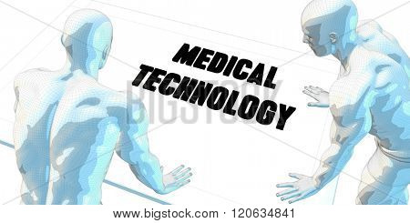 Medical Technology Discussion and Business Meeting Concept Art