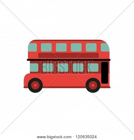 Red Retro City Double Decker Bus