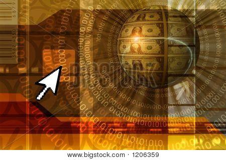 Financial Concept Background - Orange