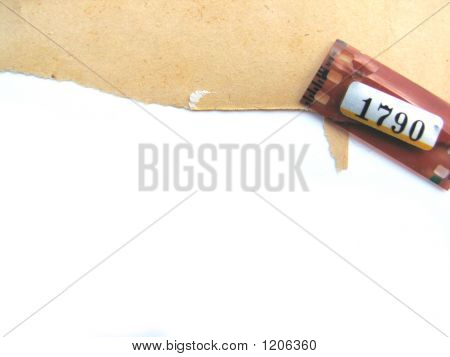 Ragged Paper Background With Film Strip Detail