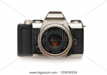 Photo camera isolated. Element of design.