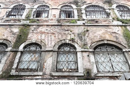 Windows Of Old Bulding
