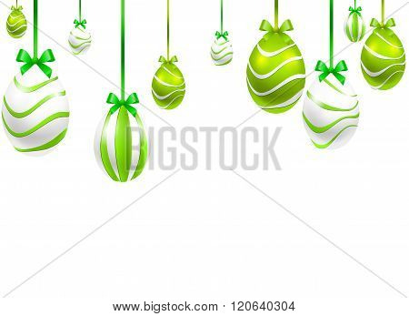Festive Hanging Painted Easter Eggs