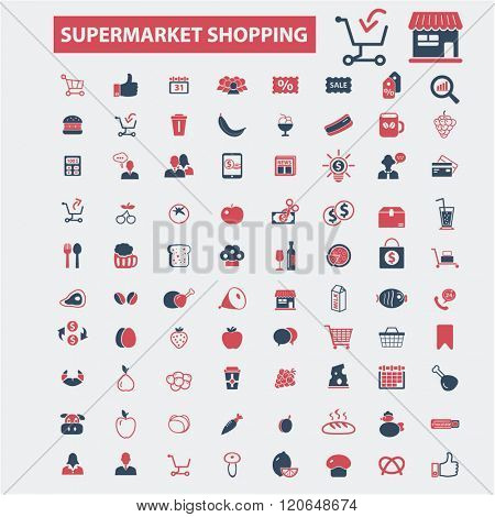 supermarket shopping icons