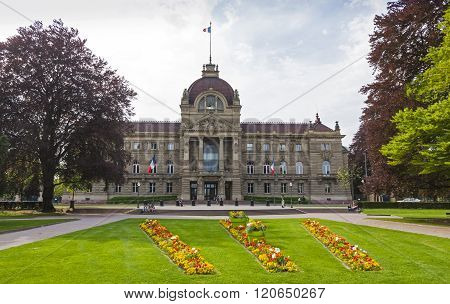 STRASBOURG, FRANCE - MAY 6, 2013: Building of Palace of the Rhine (Palais du Rhin) in Strasbourg France